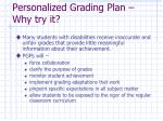personalized grading plan why try it
