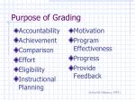 purpose of grading