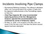 incidents involving pipe clamps1