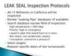 leak seal inspection protocols