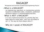 ragagep recognized and generally accepted good engineering practice