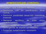 beneficios del control