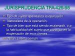 jurisprudencia tfa 426 98