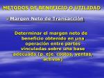 metodos de beneficio o utilidad1