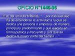 oficio n 1446 061