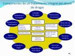 componentes de un tratamiento integral del abuso de drogas