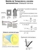 medida de temperatura y escalas termom tricas dilataci n t rmica