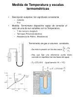 medida de temperatura y escalas termom tricas