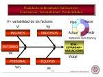 cualidades de resultados satisfactorios consistencia invariabilidad predictibilidad