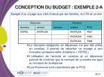 conception du budget exemple 2 a