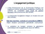 l engagement juridique