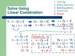 solve using linear combination