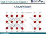 multi dimensional equation