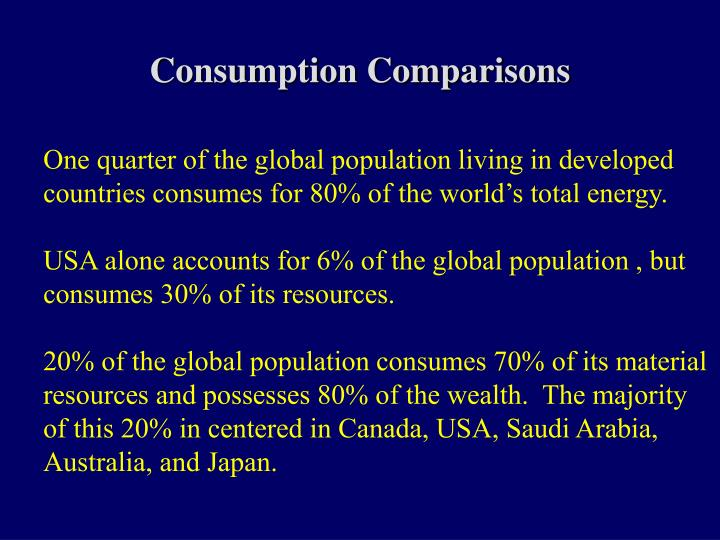 Consumption Comparisons