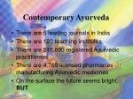 contemporary ayurveda