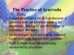 the practice of ayurveda