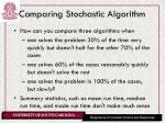 comparing stochastic algorithm