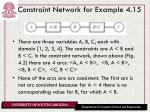 constraint network for example 4 15