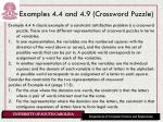 examples 4 4 and 4 9 crossword puzzle