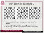 min conflicts example 3