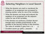 selecting neighbors in local search
