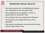 stochastic beam search
