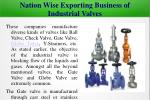 nation wise exporting business of industrial valves2