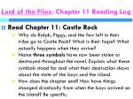 lord of the flies chapter 11 reading log