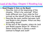 lord of the flies chapter 3 reading log