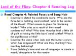 lord of the flies chapter 4 reading log