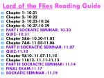 lord of the flies reading guide