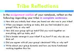 tribe reflections