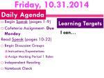friday 10 31 2014