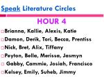 speak literature circles