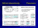 520 km discontinuity precursors
