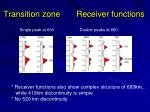transition zone receiver functions