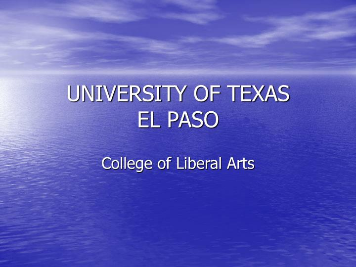 university of texas el paso n.