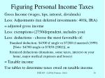 figuring personal income taxes