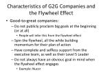 characteristics of g2g companies and the flywheel effect