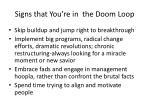 signs that you re in the doom loop