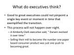 what do executives think
