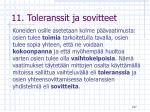 11 toleranssit ja sovitteet