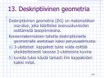 13 deskriptiivinen geometria
