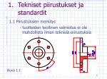 tekniset piirustukset ja standardit