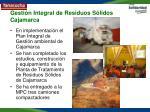 gesti n integral de residuos s lidos cajamarca