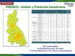 predeci ambito y poblaci n beneficiaria