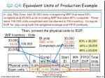 q2 q4 equivalent units of production example1