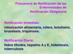 frecuencia de notificaci n de las enfermedades de notificaci n obligatoria