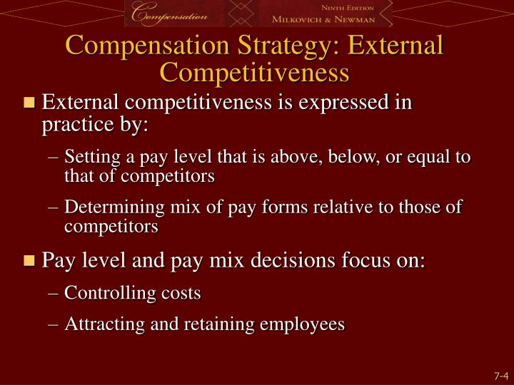 Compensation Strategy: External Competitiveness