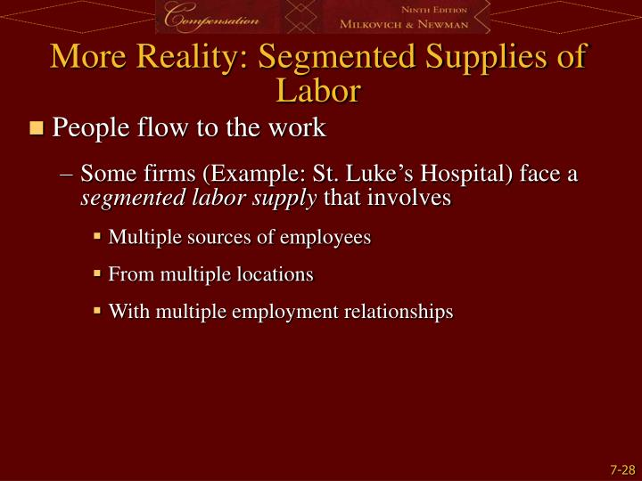 More Reality: Segmented Supplies of Labor